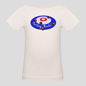 Curling Rocks! Organic Baby T-Shirt