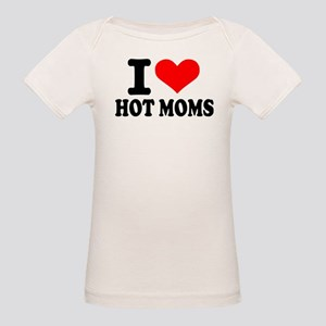 I love hot moms Organic Baby T-Shirt