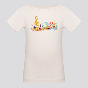 Colorful musical notes Organic Baby T-Shirt