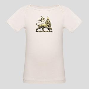 Rasta Jah Lion Organic Baby T-Shirt