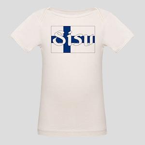 Finnish Sisu (Finnish Flag) Organic Baby T-Shirt