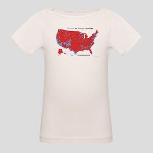 Trump vs Clinton Map Organic Baby T-Shirt