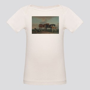 Mares and Foals Organic Baby T-Shirt