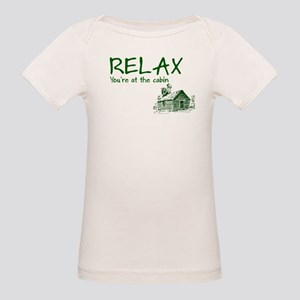 Relax Cabin Cottage Organic Baby T-Shirt