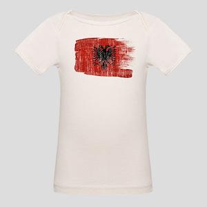 Albania Flag Organic Baby T-Shirt