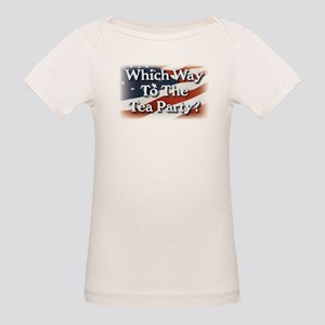 Which Way to The Tea Party? v3 Organic Baby T-Shir