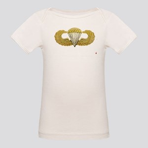 Gold Airborne Wings Organic Baby T-Shirt