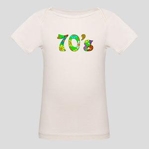 70's Flowers Organic Baby T-Shirt