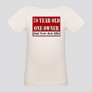 70th Birthday Organic Baby T-Shirt