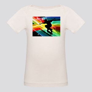 Skateboarder in Criss Cross L T-Shirt