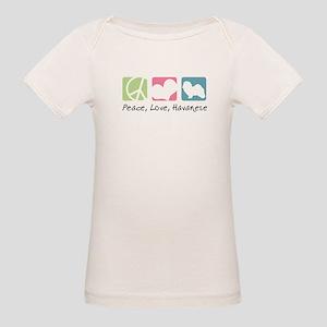 Peace, Love, Havanese Organic Baby T-Shirt