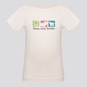 Peace, Love, Doodles Organic Baby T-Shirt