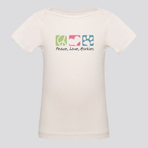 Peace, Love, Morkies Organic Baby T-Shirt