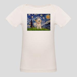 Starry Night Havanese Pup Organic Baby T-Shirt