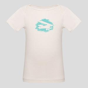 Biplane Cloud Silhouette Organic Baby T-Shirt