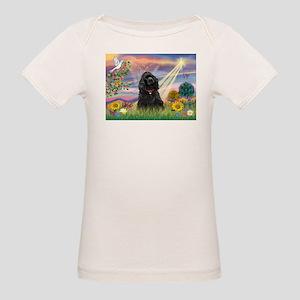 Cloud Angel/Black Cocker Organic Baby T-Shirt