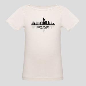 New York Skyline Organic Baby T-Shirt