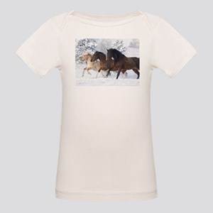 Horses Running In The Snow T-Shirt