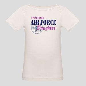 Proud Air Force Daughter Organic Baby T-Shirt