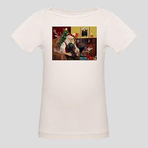 Santa's Black Cocker Organic Baby T-Shirt