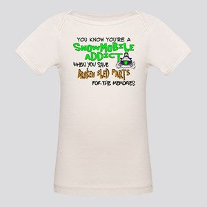 Sled Parts Memories Organic Baby T-Shirt
