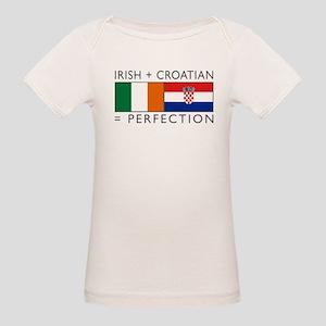 Irish Croatian flags Organic Baby T-Shirt