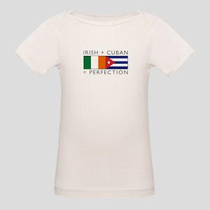 Irish Cuban heritage flags Organic Baby T-Shirt