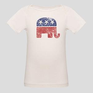 Worn Republican Elephant Organic Baby T-Shirt