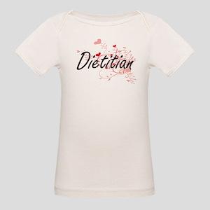 Dietitian Artistic Job Design with Hearts T-Shirt
