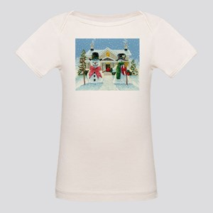 American Snowman Gothic Organic Baby T-Shirt