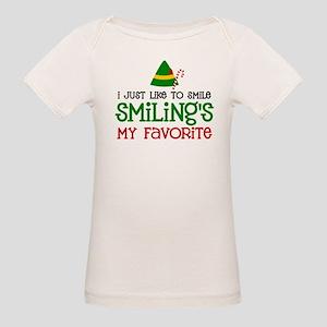 Smiling Is My Favorite Organic Baby T-Shirt