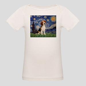 Starry Night & Beagle Pup Organic Baby T-Shirt