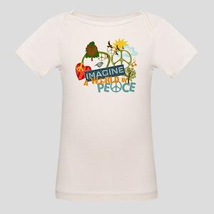 Imagine Peace Abtract Art Organic Baby T-Shirt