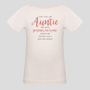 Auntie Partner in Crime Organic Baby T-Shirt