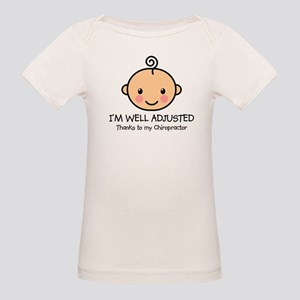 Well-Adjusted Baby (Fair) Organic Baby T-Shirt