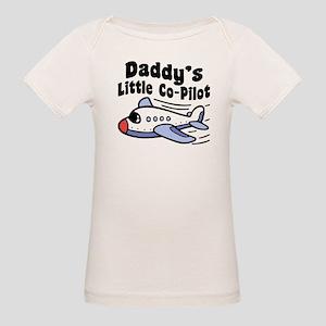 Daddy's Little Co-Pilot Organic Baby T-Shirt