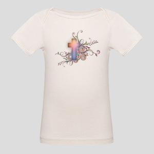 Swirls N Cross Organic Baby T-Shirt