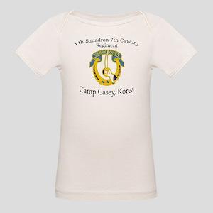 4th Squadron 7th Cavalry Organic Baby T-Shirt