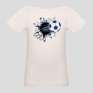 Soccer Ball Burst Organic Baby T-Shirt