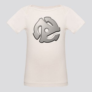45 RPM Adapter DJ Logo Organic Baby T-Shirt