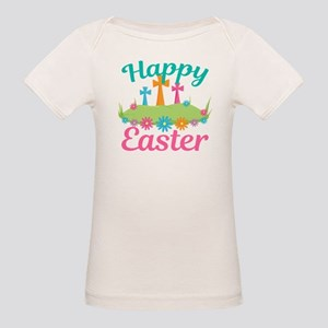 Happy Easter Organic Baby T-Shirt
