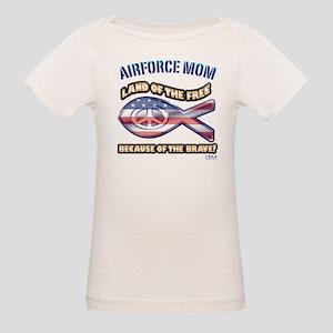 Airforce Mom Organic Baby T-Shirt