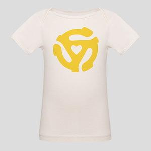 45 Record Adapter Organic Baby T-Shirt