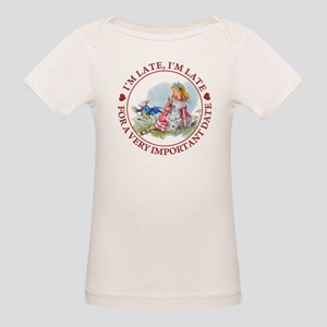 I'm Late , I'm Late, For a Ve Organic Baby T-Shirt