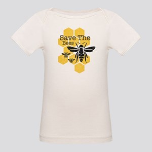 Honeycomb Save The Bees Organic Baby T-Shirt