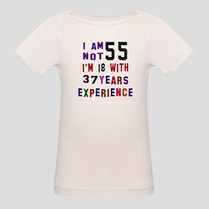 55 Birthday Designs Organic Baby T-Shirt