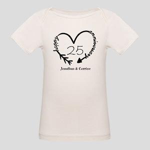 Custom Anniversary Doodle Hea Organic Baby T-Shirt