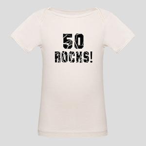 50 Rocks Birthday Designs Organic Baby T-Shirt