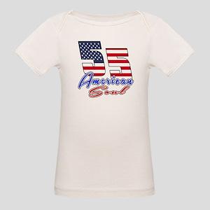 55 American Soul Birthday Des Organic Baby T-Shirt