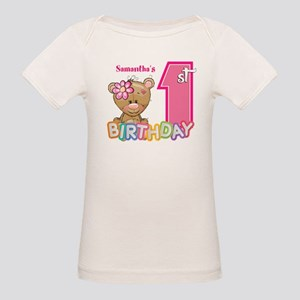 Baby First Birthday Cute Organic Baby T-Shirt